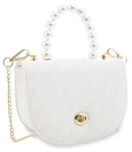 Petite Pearl Accented Shoulder Bag