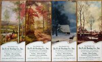Newark, NJ 1947 Advertising Blotters - SET OF FOUR - De-Fi-Al Roofing Co.