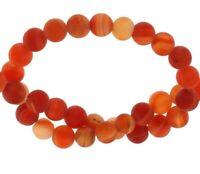Natürliche Streifen Achat Perlen Matte Rot  6mm Edelsteine Natur Achatstein G855