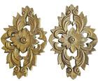 2x Wood Carving Thai Traditional Wall Panel Vintage Handmade Home Decor Gift Art