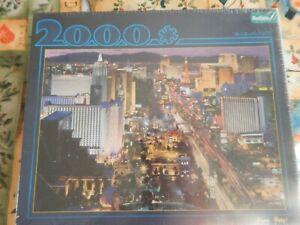 "Buffalo Games ""Vegas Baby!"" Jigsaw Puzzle 2000 Pieces Las Vegas - New"