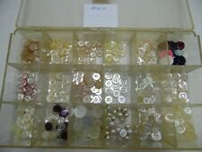 New listing Vintage Button Box Lot Assorted Colors & Sizes Sew Thru Shank Shirt Blouse Btn-5