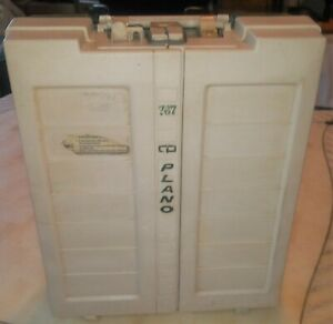 Vintage 1980's Plano 767 Tackle Box Super Rare Fold Out Lure Display Organizer