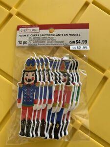 Creatology Christmas Nutcracker Foam Stickers Soldiers 12 Pc Foam Sticker Set