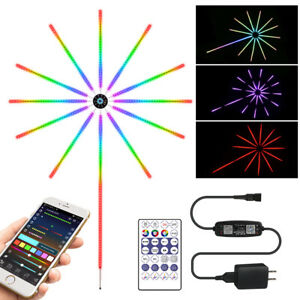 USB Fireworks LED Strip Light Music Sound Sync Color Changing Christmas Party
