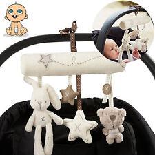 Musical Plush Crib Stroller Baby Pram Rattle Hanging Rabbit Star Toy