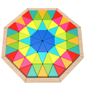 Tooky Toy Wooden Octagon Puzzle, Mosaic Puzzle 73 pieces