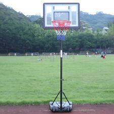 "33"" x 23"" Backboard Adjustable Basketball Hoop System Outdoor Stand w/ Wheels"