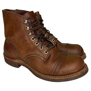 Red Wing Iron Ranger Boots Men's Size 6 D Amber Harness Leather Style 8111