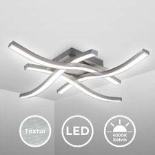 LED Design Deckenlampe Wohnzimmer Deckenleuchte modern Wellenoptik Alu 20 Watt