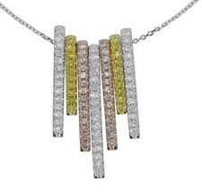 Pink Diamond - Necklace & Pendant 1.69ct Natural Fancy pink Diamonds 18K Gold