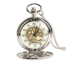 Large Gold Face Pocket Watch NeckLace Women Men Quartz Pocket Watch ED