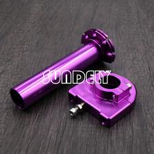 "CNC Aluminum Universal Motorcycle Twist Throttle Assembly 7/8"" 22mm Purple"