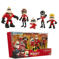 The Incredibles 2 Action Figure Model Set 6pcs Kids Toys 6-10cm Family Pack Gift