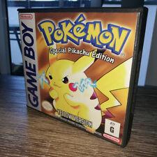 Pokemon Yellow Version - Custom Replacement Case (Nintendo Gameboy, 1998) AUS