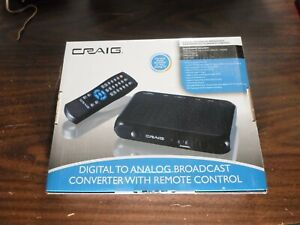 Craig CVD508 Digital To Analog Broadcast TV Converter with Remote
