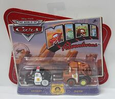 SHERIFF & MATER Disney Pixar Cars Mini Adventures Police World WoC Cop M1902 NEW