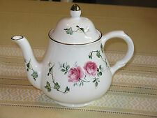 ~Vintage Arthur Wood & Sons Staffordshire Teapot Roses Floral England NICE~