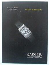 PUBLICITE JAEGER MONTRE HORLOGER DE LA MARINE DE L'ETAT DE 1934 FRENCH AD PUB