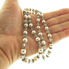 7mm 19 Inch Crystal and Pearl Necklace