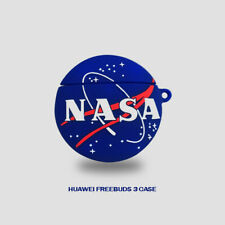 NASA Logo 3D Silicone Earphone Protective Case Cover Skin For Huawei Freebuds 3