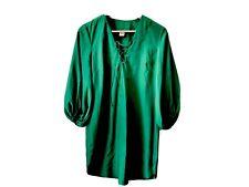 Oversized Emerald Green Shift Dress Size XS EUC A New York Brand