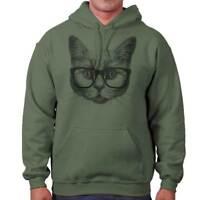 Cool Hipster Cat Shirt | Funny Kitten Cute Gift Idea Pet Love Hoodie