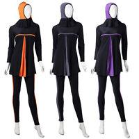Women Swimwear Muslim Modest Swimsuit Full Cover Islamic Beachwear Burkini New