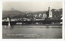 CPSM 74 Haute-Savoie Evian-Les-Bains animé bateau