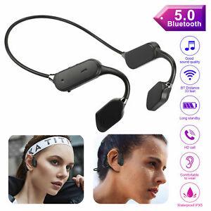 Outdoor Bone Conduction Headset Bluetooth 5.0 Open Ear Wireless Headphones Sport