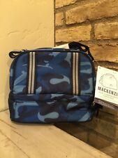 New Pottery Barn Kids Mackenzie Blue Skateboard Camo Dual Compartment Lunch Bag