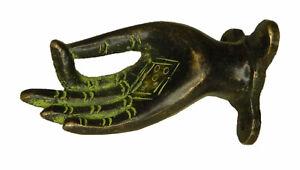Lady Hand Shape Victorian Finish Handmade Brass Drawer Window Cabinet Pull Knob