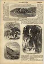 1858 Cochin China Bahía de touranne residencia gruta Barco