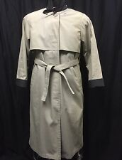 London Fog Women Coat Tan Belted Trench Coat Removable Liner Thinsulate 6 Petite