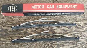 """E TYPE MG MGB TRIUMPH HERALD GT6 TR6 1100 1300 JENSEN FIAT TEX WIPER BLADES 11"""""""