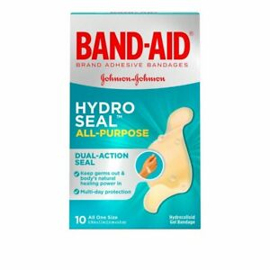Band-Aid Hydro Seal All Purpose, 10 Count (One Size)