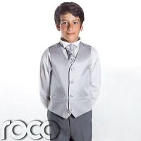 Boys Silver & Grey Suit, Page Boy Suits, Boys Wedding Suits, Boys Suits, Stripe