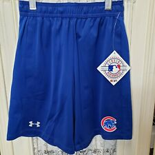 Under Armour Youth Small Official MLB Merchandise Blue Chicago Cubs Shorts NEW