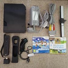 Nintendo Wii Nero Sport & Resort Controller Nunchuck Motion Plus GRANDE Bundle
