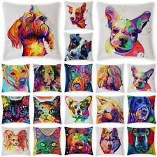 18'' Colorful Dog Cat Animal Pillow Case Sofa Throw Cushion Covers Home Decor