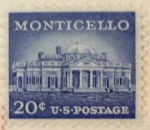 20c Monticello Liberty Series single, Scott #1047, MH, VF