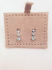 Pretty Stud Earrings With Blue Diamontes by Basics