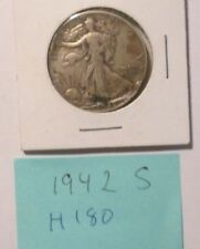H180H1118 - Silver Walking Liberty Half Dollar 1942 S  - Free Shipping