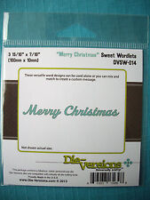 Die-versions - Merry Christmas Die - Christmas - Use with Cuttlebug & Sizzix