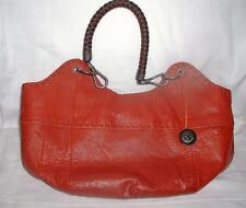THE SAK Balboa Hobo Burnt Orange Leather Braid Handles Satchel Shoulder Bag NWT