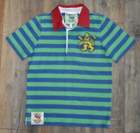 Joules Boys Green Rugby Polo Shirt Casual Top Collar Kids 7 Years
