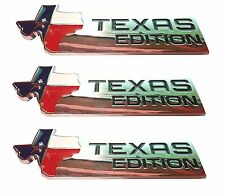 THREE=XL TEXAS EDITION Emblem Badge Ford 150 250 350 Tailgate Universal Stick-On