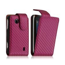 Housse coque etui gaufré pour Sony Ericsson Txt Pro CK15i couleur rose fushia