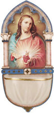 SACRED HEART OF JESUS - HOLY WATER FONT CANDLES STATUES PICTURES ARE ALSO LISTED