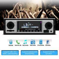 Bluetooth Auto Stereo Audio 1DIN Player In-Dash FM MP3-Radio-Player AUX-IN SD